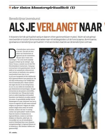 Benedictijnse levenskunst - Volzin - mei 2013 - Yvonne Nieuwenhuijs